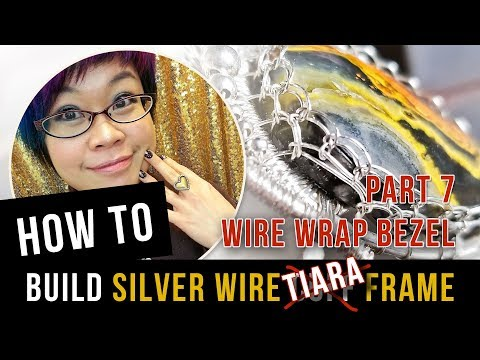 How to Make Silver Wire Cuff Frame for Cabochon - Wire Netted Bezel - Part 7
