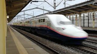 【JR東日本】新幹線高速通過! 熊谷駅にて