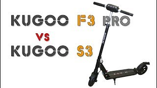 электросамокат Kugoo F3 pro vs. Kugoo S3 12 ah 36v