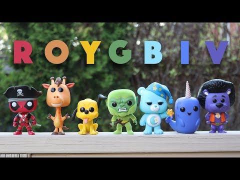 Rainbow Funko Pop Challenge!  *ROYGBIV*