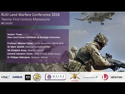 Sir Mark Sedwill - How Land Forces Contribute to Strategic Outcomes: RUSILWC18