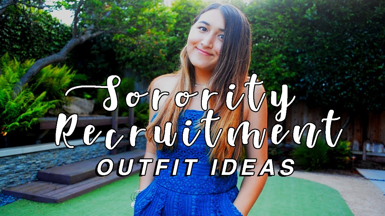 2cc808bc26 SORORITY RECRUITMENT OUTFIT IDEAS 2018! What to wear for sorority  recruitment! sorority rush outfits