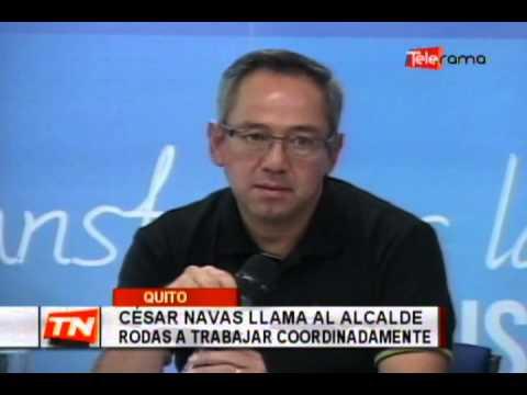 César Navas llama al alcalde Rodas a trabajar coordinadamente