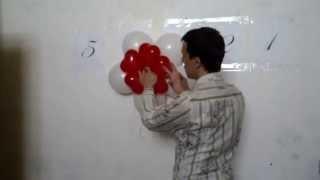 Аэродизайн своими руками. Цветок из шаров, с креплением к стене. Легков.(Аэродизайн это украшение воздушными шарами. Своими руками вы сможете сделать цветок из воздушных шаров...., 2013-07-24T07:01:07.000Z)