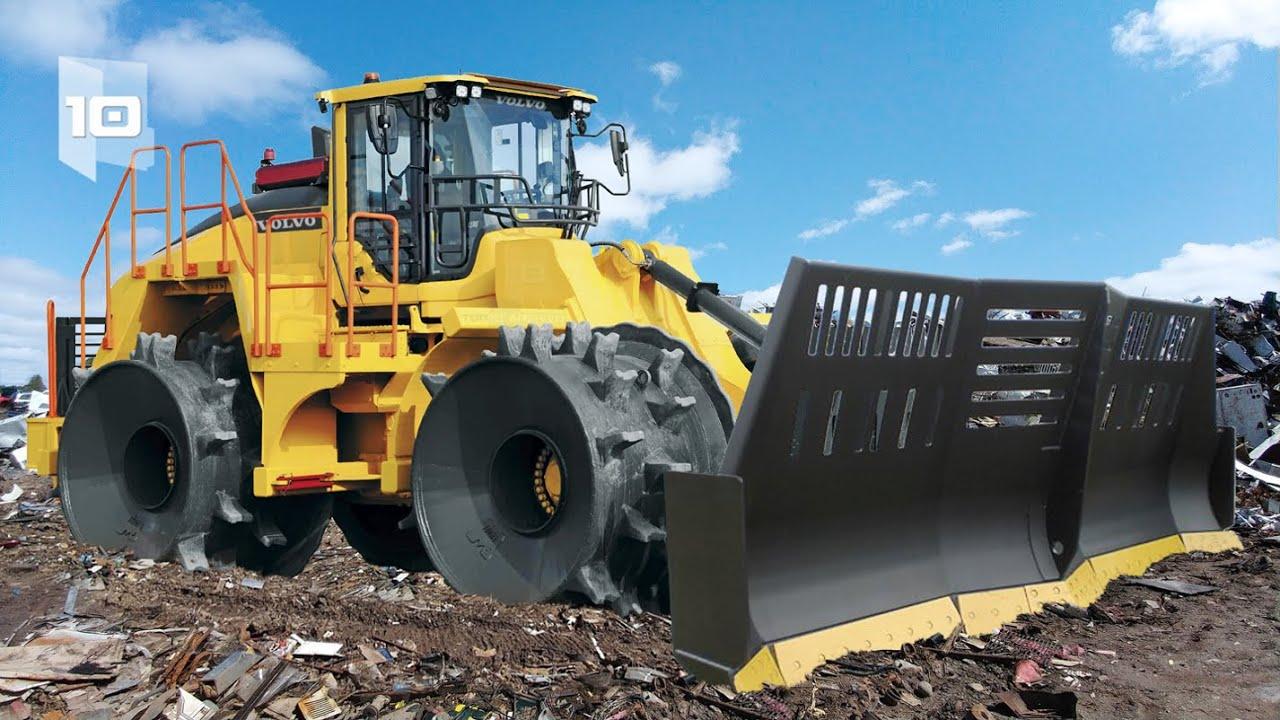 10 Maiores e mais Potentes Compactadores de Resíduos do Mundo