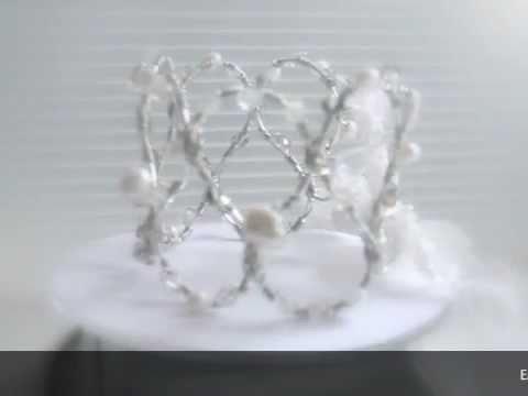 Bridal Jewelry: Crystal Lace Cuff bracelets by Blackiris Design