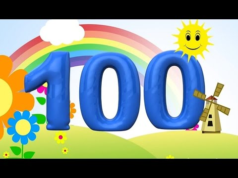 Bilingual Counting Numbers 100-1 (reverse) english and german. Learn to count for children