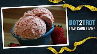 Delicious Keto Strawberry Ice Cream