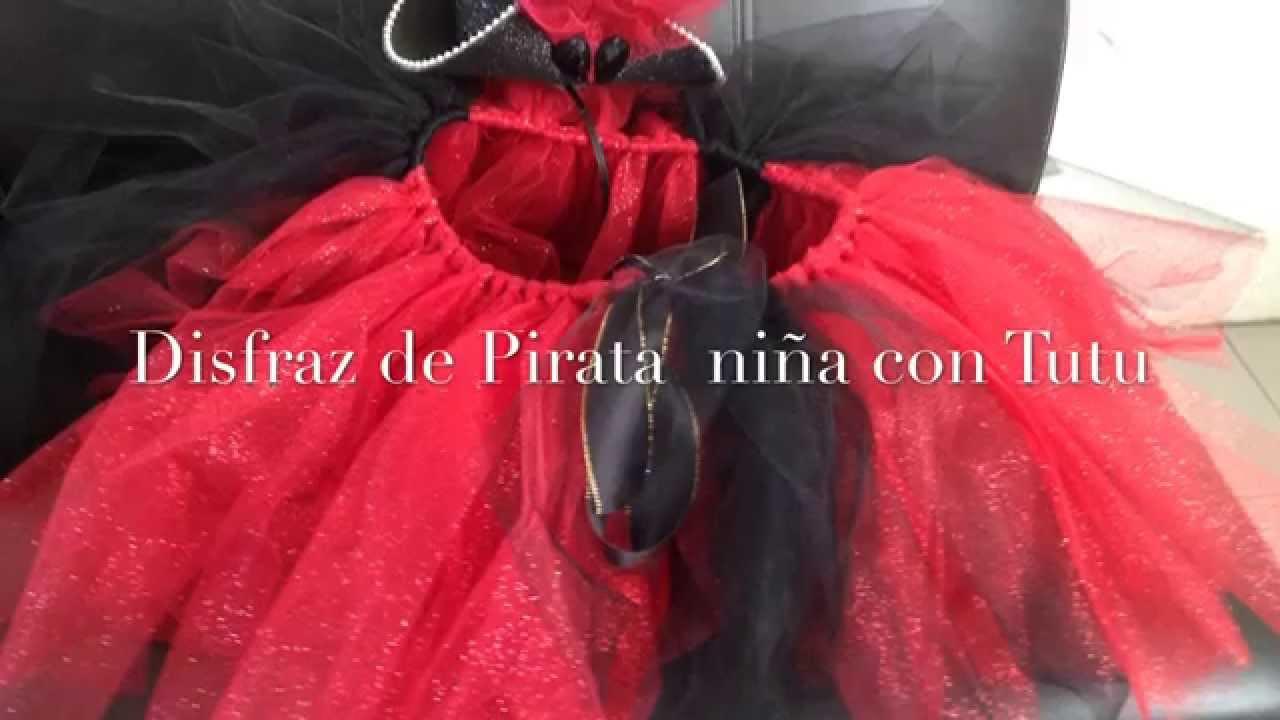 Disfraz De Pirata Niña Con Tutu Youtube