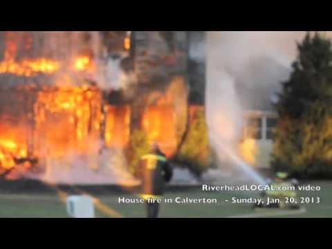 Conflagration in Calverton NY