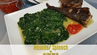 Easy Way To Make Spinach/  Légume Verts-Congolese Food