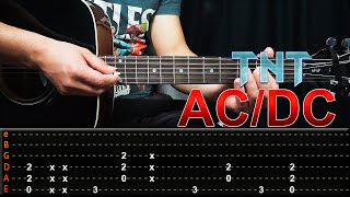 Como Tocar TNT - AC/DC - Guitarra Tutorial (Facil) HD