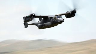 V-22 Osprey Low Level Mach Loop Flybys, Wales.