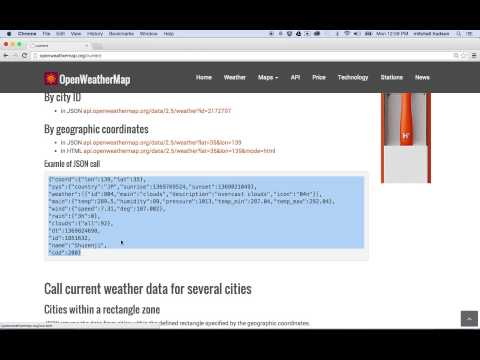 1 Open Weather Map API