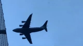 A low-flying plane over Nashville, Shocking different angles!! Pt.1