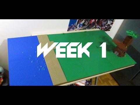 Lego Star Wars Kashyyyk moc - Week 1 : Setting the plates - update 1