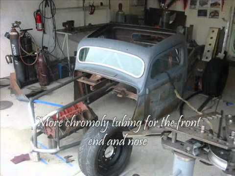 1937 Hot Rod Streetfighter Build Part 2 The Chassis Youtube