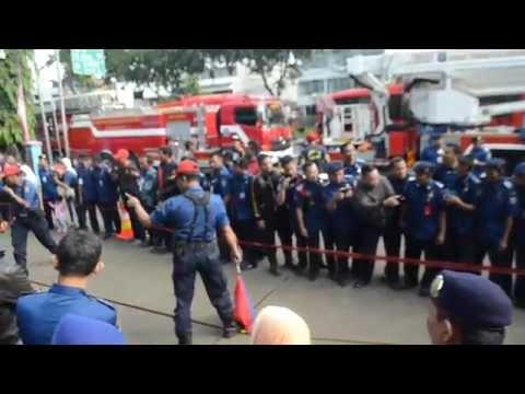 Jakarta Utara vs Jakarta Pusat Fire Rescue HUT RI ke 71