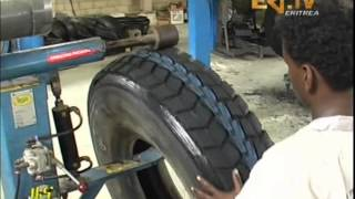 Eritrean News - Car Tyre Recycling Factory in Ginda striving to meet local demand