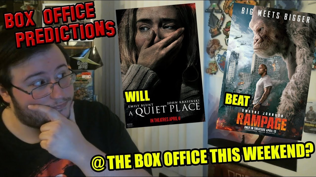 will rampage beat a quiet place this weekend box office predictions youtube. Black Bedroom Furniture Sets. Home Design Ideas