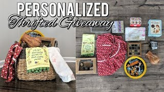 Personalized Thrifted Giveaway Haul!-Home Decor & Vintage Items!