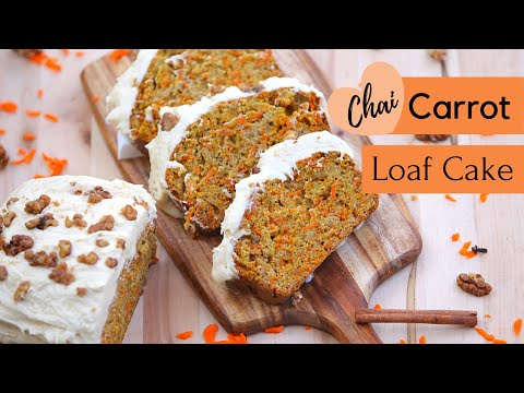 Carrot Loaf Cake with Chai Spices | Brown Butter Cream Cheese Frosting | Quick Bread Recipe