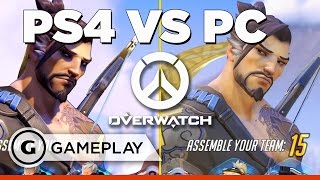 Overwatch PS4 V PC Gameplay Comparison