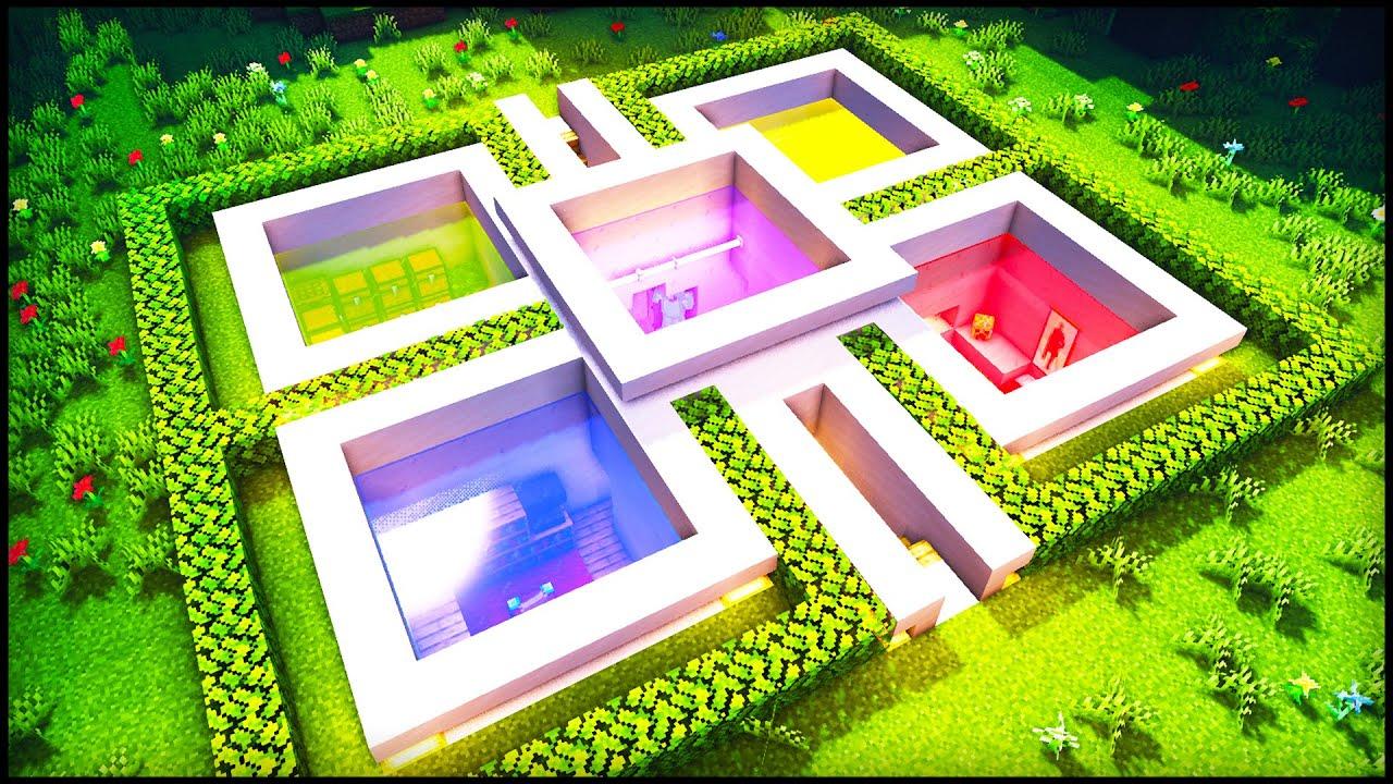 Minecraft Underground Cube Modern House: How to build a ...