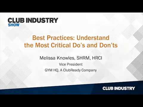 Club Industry Show 2018 - Melissa Knowles