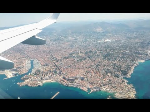 Rade Marseillaise - Atterrissage Munich-Marseille Lufthansa Regional Embraer 195