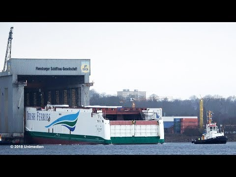 W.B. YEATS | awesome big ship launch for IRISH FERRIES at sh