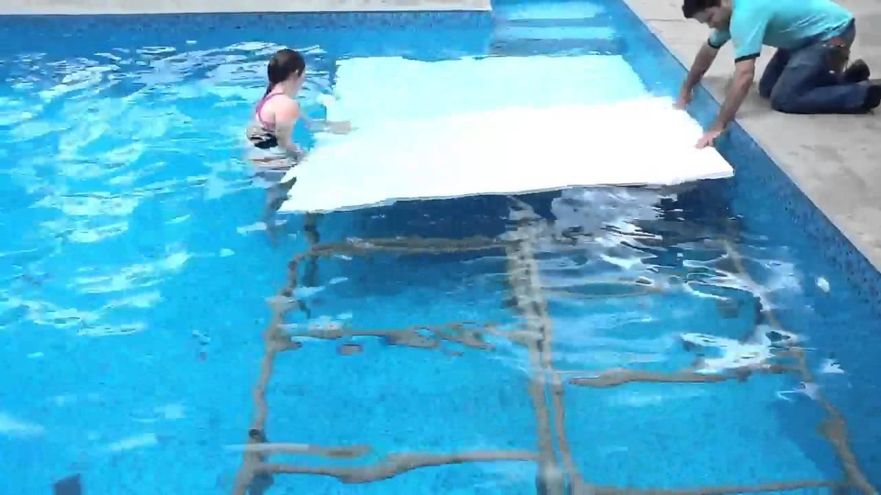 Plataforma de redu o de profundidade 2 youtube for Plataforma para piscina