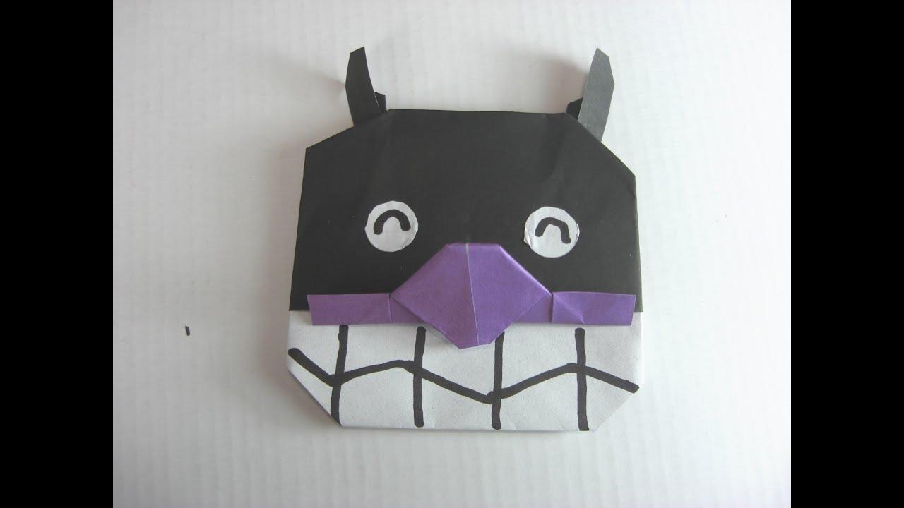 折り紙 バイキンマン