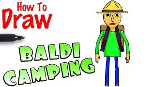 How to Draw Baldi Camping