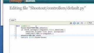 "web2py ""shootout"" tutorial"
