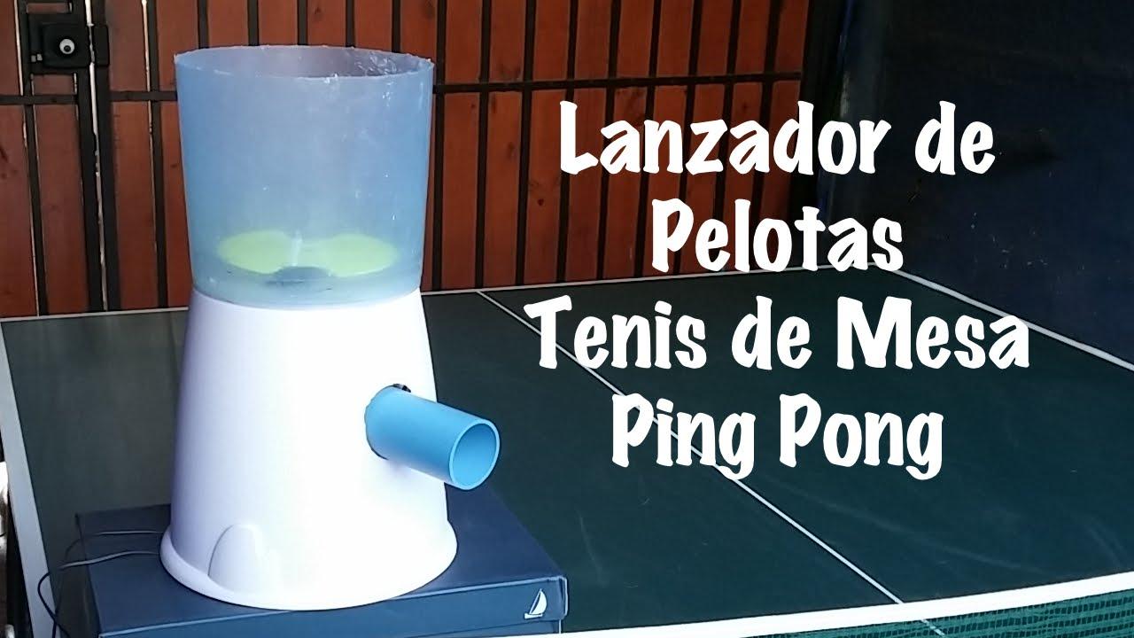 Lanzador de pelotas tenis de mesa ping pong youtube for Mesa ping pong carrefour