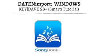 (ST) SongBook+ Datenimport - Ordner im W-Lan freigeben (Windows)