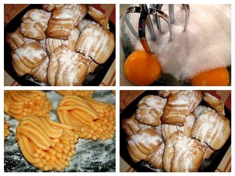 Печенье через мясорубку ХРИЗАНТЕМА из детства. ВКУСНОЕ МЕНЮ. Пошаговое приготовление