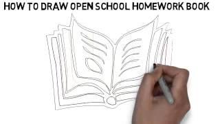 how to draw open school homework book