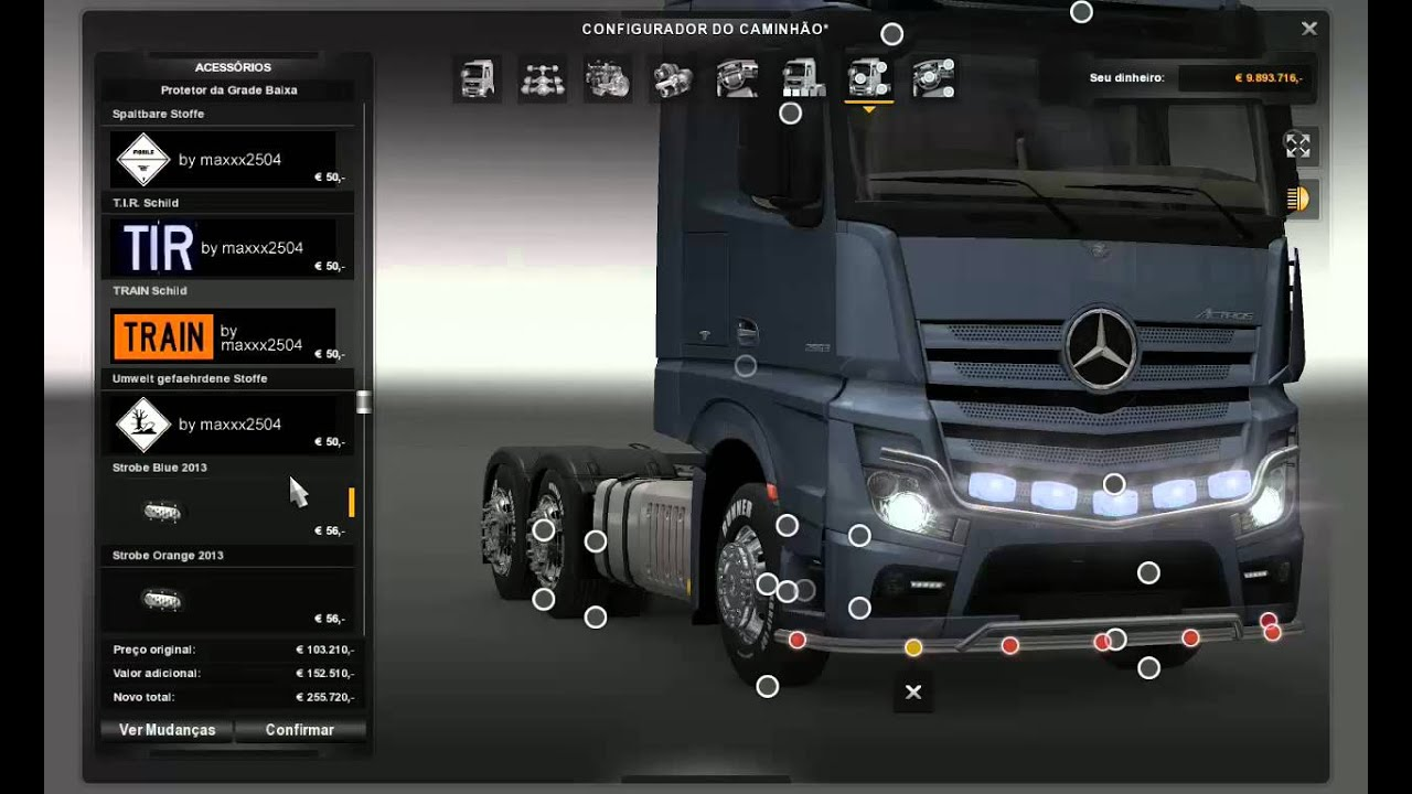 Tuning Pack for Actros MPIV ~ Euro Truck Simulator 2 Mods