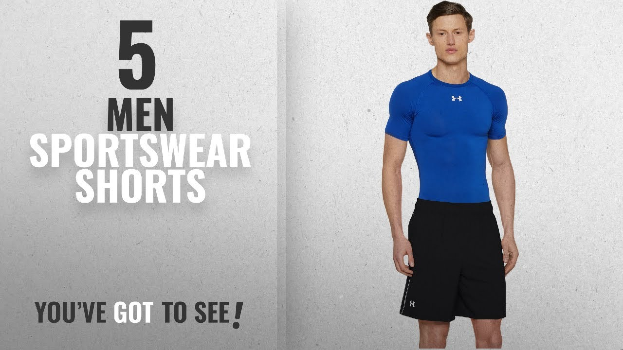 Top 10 Men Sportswear Shorts [2018]: Under Armour Men's HeatGear Mirage 8-inch Shorts, Black/Wh