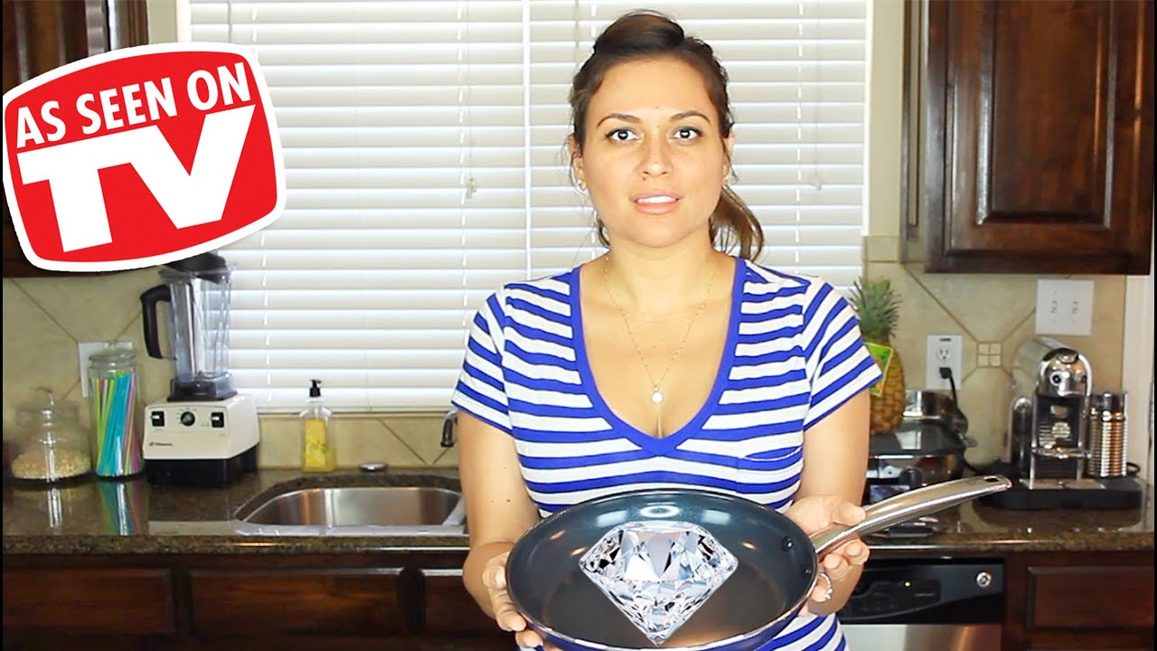 blue diamond pan review testing as seen on tv product youtube. Black Bedroom Furniture Sets. Home Design Ideas