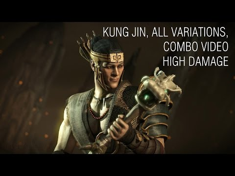 Mortal Kombat X - Kung Jin Combos, Advanced, All Variations (Damage up to 52%)