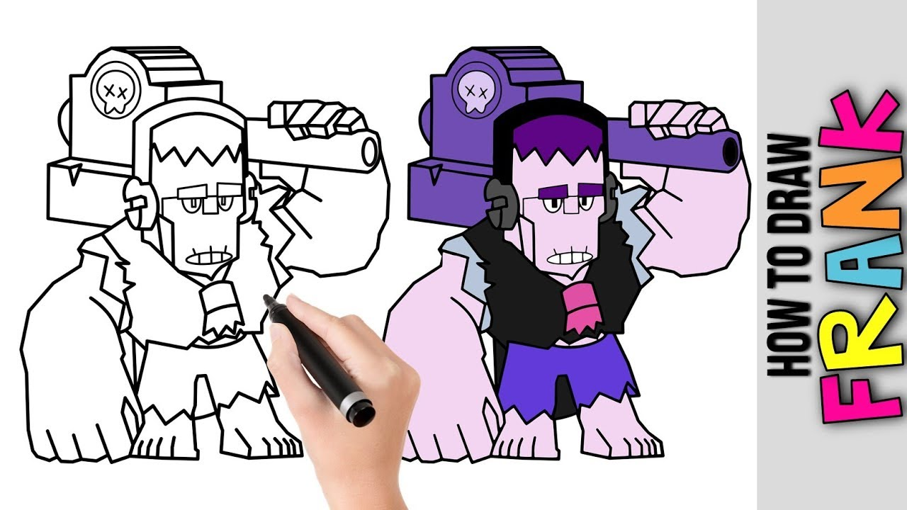 How To Draw Frank From Brawl Stars Cute Easy Drawings