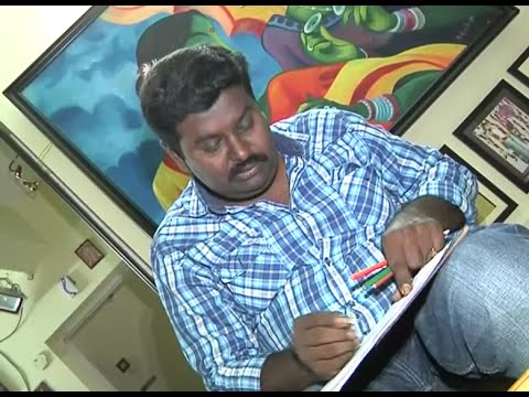 Yuva - This Vizag Artist Paints Hudhud Severeness On Canvas, Promises To Help Victims