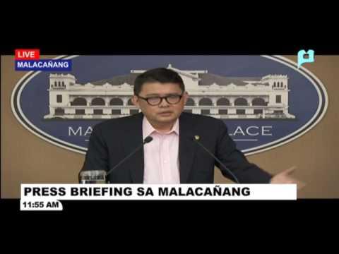 Press briefing sa Malacañang Palace