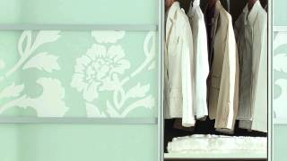 Schiebetüren fix und fertig mit Füllung Alu-Style   -   LAYER-Grosshandel