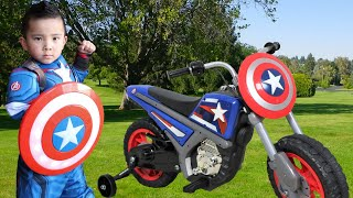 Captain America Role Play Ride On Fun Compilation CKN