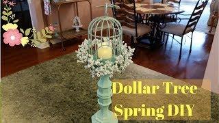 Dollar Tree Spring Birdcage Candleholder DIY