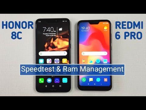 Honor 8C vs Redmi 6 Pro Speed Test & Ram Management Test